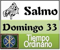 Salmo domingo 33 tiempo ordinario ciclo A